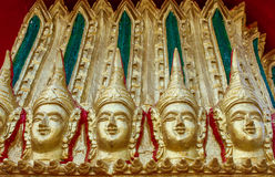 Estilo tailandés del modelo en el templo Tailandia Fotos de archivo libres de regalías