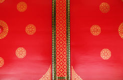 Estilo tailandés del techo del templo Imagen de archivo