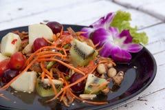 Estilo tailandés mezclado 02 de la ensalada de fruta foto de archivo