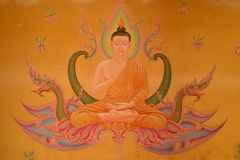 Estilo tailandés mural en el templo Fotografía de archivo libre de regalías