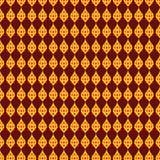 Estilo tailandés o plantilla o línea tailandesa oro y colores rojos de la pintura de la definición Fotos de archivo