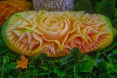Estilo tailandés tallado de la papaya Imagen de archivo