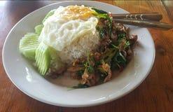Estilo tailandés tradicional de la comida Fotos de archivo libres de regalías