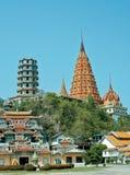 Estilo tailandés y chino de Wat en Tailandia Imagenes de archivo