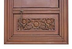 Estilo tailandês cinzelado de madeira Imagem de Stock Royalty Free
