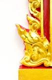 Estilo tailandês da arte da textura na parede Fotos de Stock Royalty Free