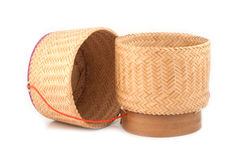 Estilo tailandês da caixa de madeira do arroz Fotos de Stock