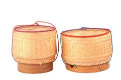 Estilo tailandês da caixa de madeira do arroz Fotografia de Stock