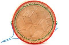 Estilo tailandês da caixa de madeira do arroz da tampa Foto de Stock Royalty Free