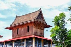 Estilo tailandês da casa de Ayutthaya do estilo tailandês da casa foto de stock