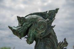 Estilo tailandês da escultura do leão Imagens de Stock
