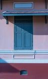 Estilo tailandês da janela antiga Fotos de Stock