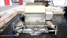 Estilo tailandês da máquina da turbina da água video estoque
