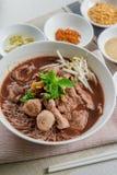 Estilo tailandês da sopa de macarronete Imagem de Stock Royalty Free