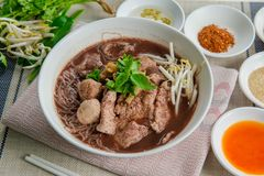 Estilo tailandês da sopa de macarronete Fotos de Stock