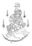 Estilo tailandês da tatuagem Imagem de Stock