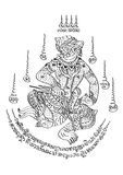 Estilo tailandês da tatuagem Fotos de Stock
