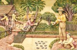 Estilo tailandês da vida das estátuas da imagem da arte Imagens de Stock