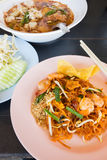 macarronetes de arroz Stir-fritados (almofada tailandesa) Fotografia de Stock Royalty Free