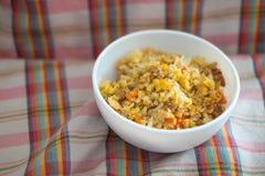 Estilo tailandês do arroz fritado foto de stock royalty free