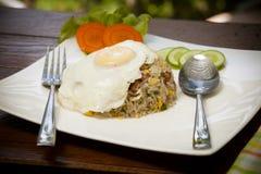 Estilo tailandês do arroz fritado Imagem de Stock
