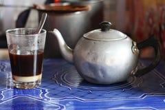 Estilo tailandês do café preto da manhã Fotos de Stock Royalty Free