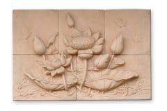 Estilo tailandês do cimento do baixo relevo Fotos de Stock Royalty Free