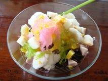 Estilo tailandês do gelado do leite de coco Imagens de Stock Royalty Free