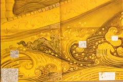 Estilo tailandês do ouro da tradição Fotos de Stock Royalty Free