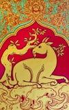 Estilo tailandês do teste padrão da cabra Imagem de Stock Royalty Free