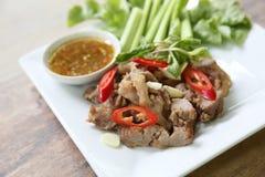 Estilo tailandês grelhado da carne de porco imagens de stock royalty free