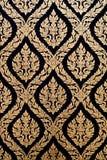 Estilo tailandês ingénuo da laca preta dourada Imagem de Stock Royalty Free