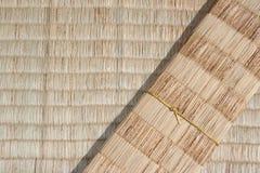 Estilo tailandês nativo da esteira de bambu Fotografia de Stock Royalty Free