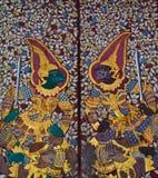 Estilo tailandês que pianting na parede do templo. Fotografia de Stock Royalty Free
