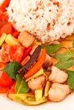 Estilo tailandês quente e picante peixes fritados fotografia de stock royalty free