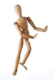 Estilo tailandés del viejo baile simulado de madera del maniquí aislado Imagenes de archivo