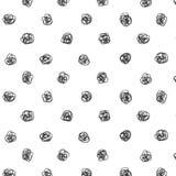 Estilo tirado da ilustração do vetor do teste padrão de às bolinhas à disposição Papel de parede abstrato da garatuja do esboço T Imagem de Stock