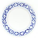Estilo tradicional do teste padrão azul e branco do abacaxi da placa Fotografia de Stock