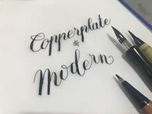 Estilo tradicional y moderno de la caligrafía imagen de archivo