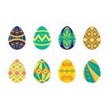 Estilo tribal plano del huevo de Pascua Fotografía de archivo
