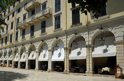 Estilo Venetian que constrói Corfu Grécia imagens de stock royalty free