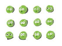 Estilo verde del emoticon Imágenes de archivo libres de regalías
