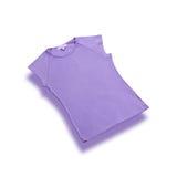 Estilo violeta de las muchachas del algodón de las camisetas   Imagenes de archivo