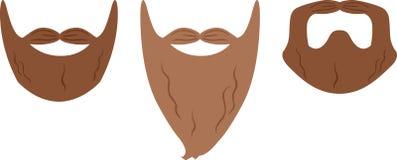 Estilos da barba Imagens de Stock Royalty Free