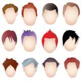 Estilos de cabelo Imagens de Stock