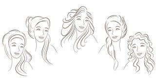Estilos de cabelo Fotografia de Stock