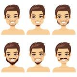 Estilos de cabelo da barba do homem de Brown Fotografia de Stock Royalty Free