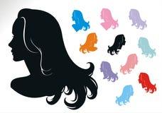 Estilos de cabelo três da mulher Imagem de Stock Royalty Free