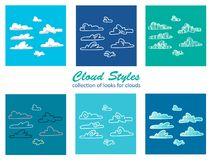 Estilos de la nube Imagen de archivo