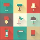 Estilos de las lámparas Imagen de archivo libre de regalías